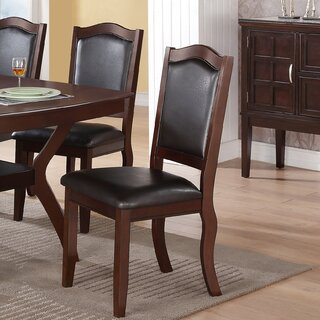Wegman Upholstered Side Dining Chair in Dark brown (Set of 2) by Winston Porter SKU:EA645744 Price Compare
