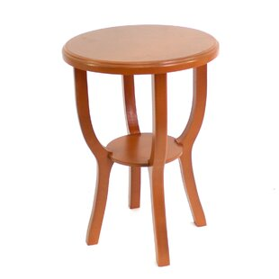 Collett Style Light Wooden Accent Stool by Ebern Designs
