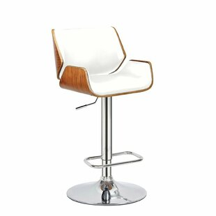 Sosebee Adjustable Height Swivel Bar Stool by Ivy Bronx