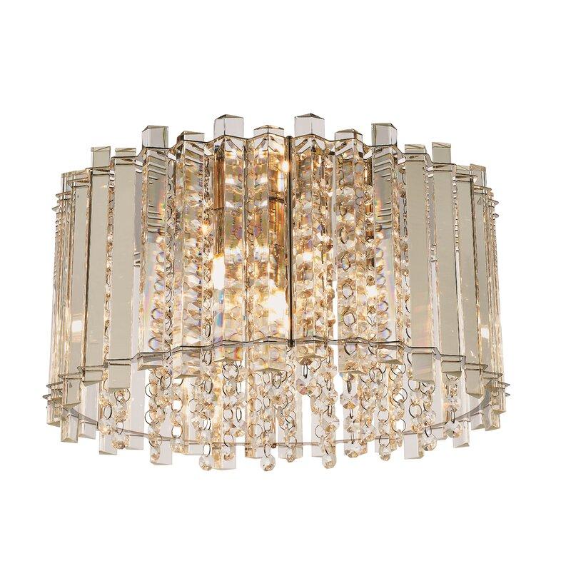 Willa Arlo Interiors Billy 4 Light Crystal Flush Mount Reviews Wayfair Co Uk