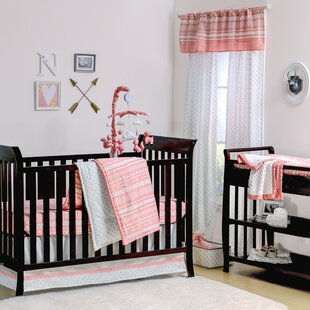 Inexpensive A Tribe Called Cute 4 Piece Crib Bedding Set By The Peanut Shell