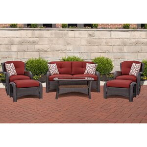 Barrand 6 Piece Lounge Seating Group with Cushion