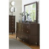 Jeffries 6 Drawer Double Dresser with Mirror by Wrought Studio™