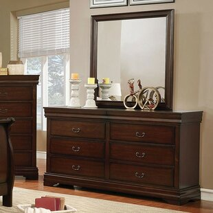 Louann 6 Drawer Double Dresser