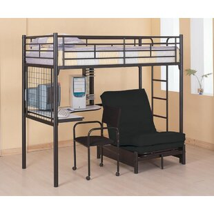 Read Reviews Dynamite Workstation Twin Loft Bed by Harriet Bee Reviews (2019) & Buyer's Guide