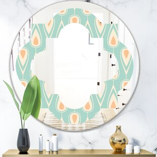 Quatrefoil Ornamental Design VIII Cottage Americana Frameless Wall Mirror