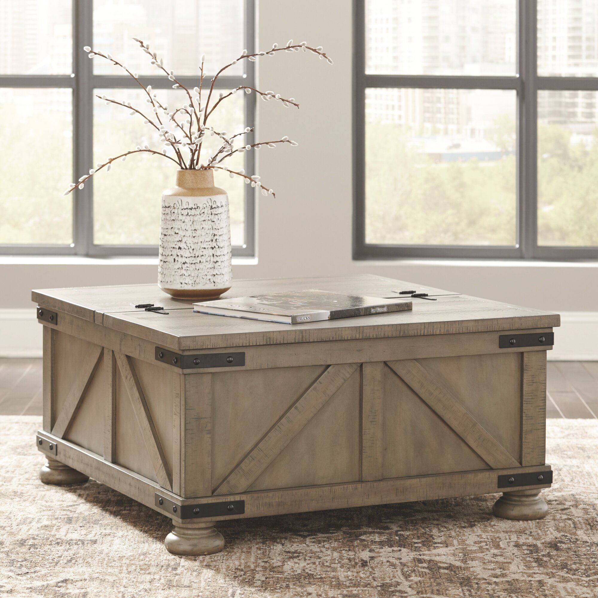 Modern Farmhouse Coffee Tables You Ll Love In 2020 Wayfair