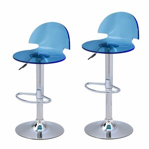 Stanhope Contemporary Adjustable Height Swivel Bar Stool (Set of 2)  sc 1 st  AllModern & Modern Blue Bar Stools + Counter Stools | AllModern islam-shia.org