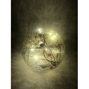 12 Warm White Crackle Effect With Twigs And Snow Lamp By The Seasonal Aisle