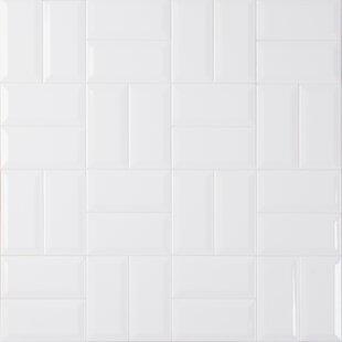Modern Contemporary White Beveled Subway Tile Allmodern