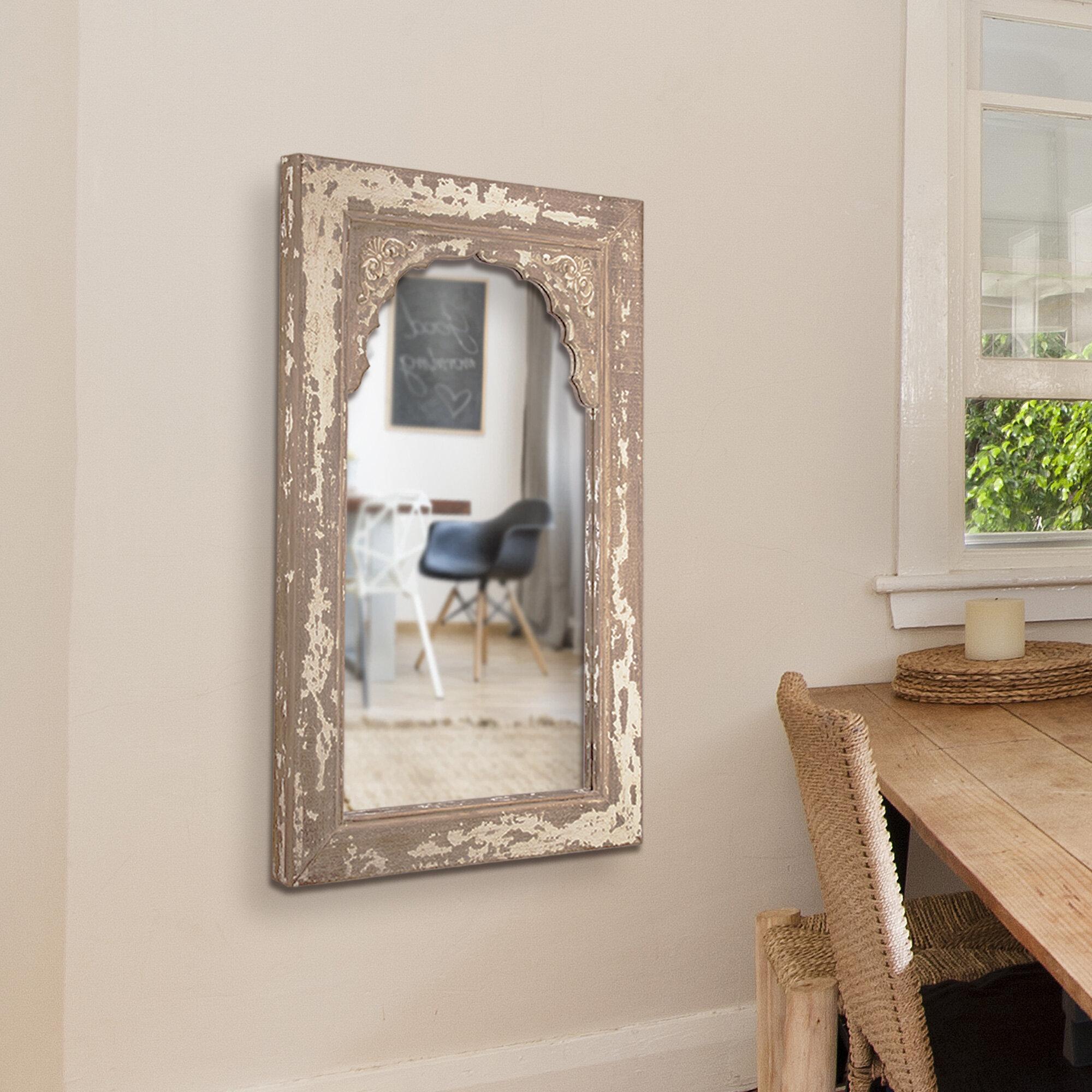 Medium White Wood Mirrors You Ll Love In 2021 Wayfair