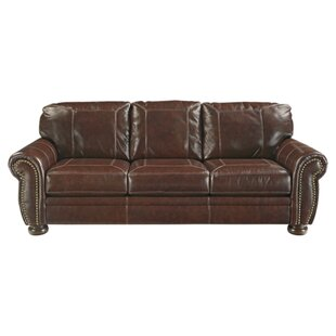 Ryan Leather Sofa by Trent..