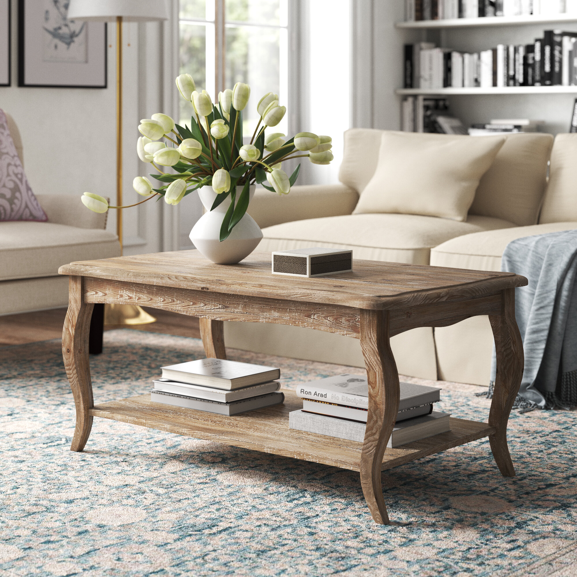 Kelly Clarkson Home Francoise Solid Wood Coffee Table With Storage Reviews Wayfair