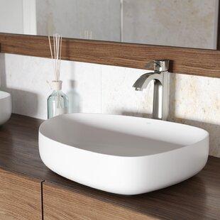 Online Reviews VIGO Matte Stone Specialty Vessel Bathroom Sink with Faucet By VIGO