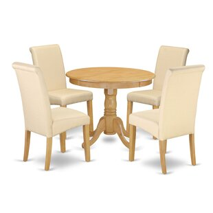 Park Place Table 5 Piece Solid Wood Dining Set Charlton Home