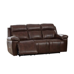 June Genuine Leather 3 Seater Reclining Sofa By Ebern Designs