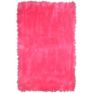 Flokati Hot Pink Area Rug