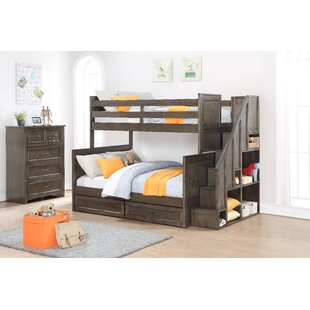 Lawanda Twin Over Full Standard Bed with Drawers by Harriet Bee