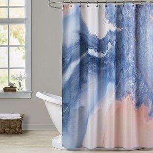 Inexpensive Deb McNaughton Marble Squiggle Shower Curtain ByBrayden Studio