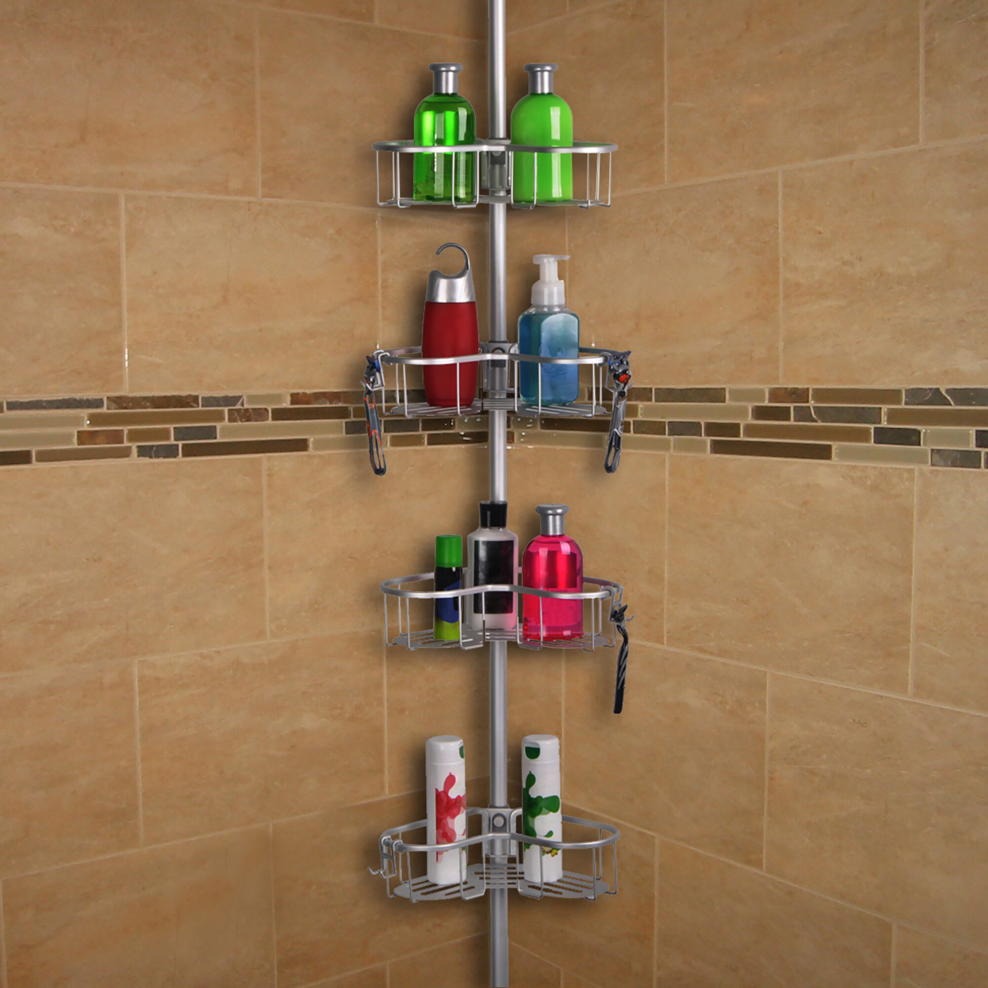 Bengal Tension Rustproof Shower Caddy