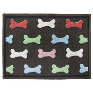 PB Paws & Co. Multi Bone Collection Tapestry Area Rug