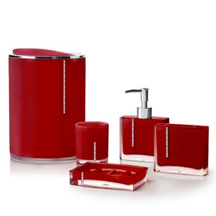 Ensembles d\'accessoires pour le bain: Finition - Rouge   Wayfair.ca