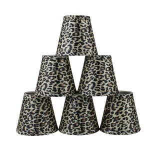Rectangular Lampshade made with Zebra Print Fabric Animal Print Stripes Rounded Rectangular
