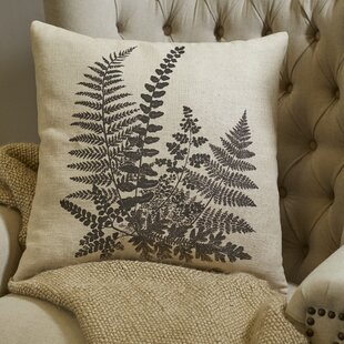 Newfolden Pen-and-Ink Fern Pillow Cover