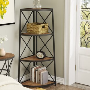 Best Reviews Woodfin Corner Bookcase by Gracie Oaks