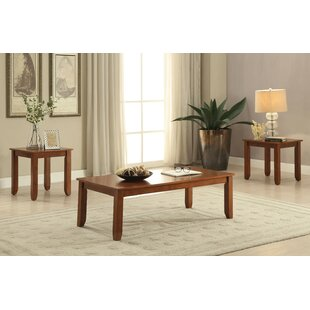 Kinman Wooden 3 Piece Coffee Table Set