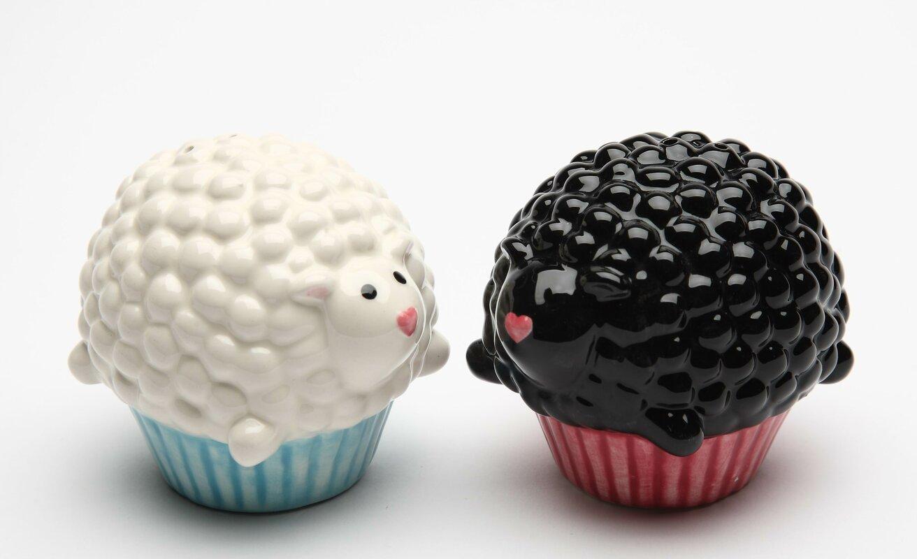 Cupcake Sheep Salt & Pepper Set