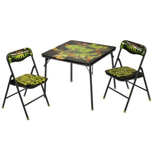 Character Camp Kids 3 Piece Activity Table and Chair Set by Idea Nuova