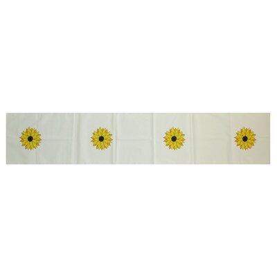 Vieux Sunflower Power Floral Print Table Runner