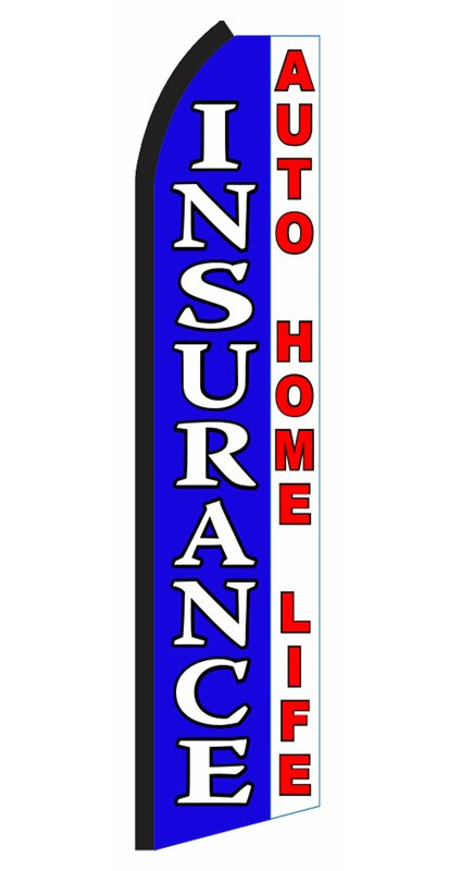 Neoplex Insurance Side By Side Polyester 138 X 30 In Feather Banner Wayfair