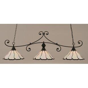 August Grove Marylin 3-Light Billiard Light