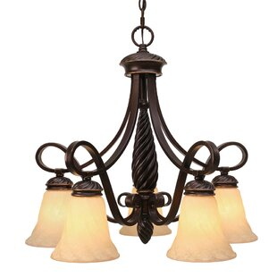 Hoopeston 5-Light Shaded Chandelier by Darby Home Co