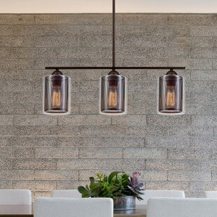 Williston Forge Rocha 3-Light Kitchen Island Pendant