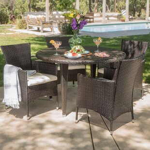 Dionisio 5 Piece Dining Set with Cushions