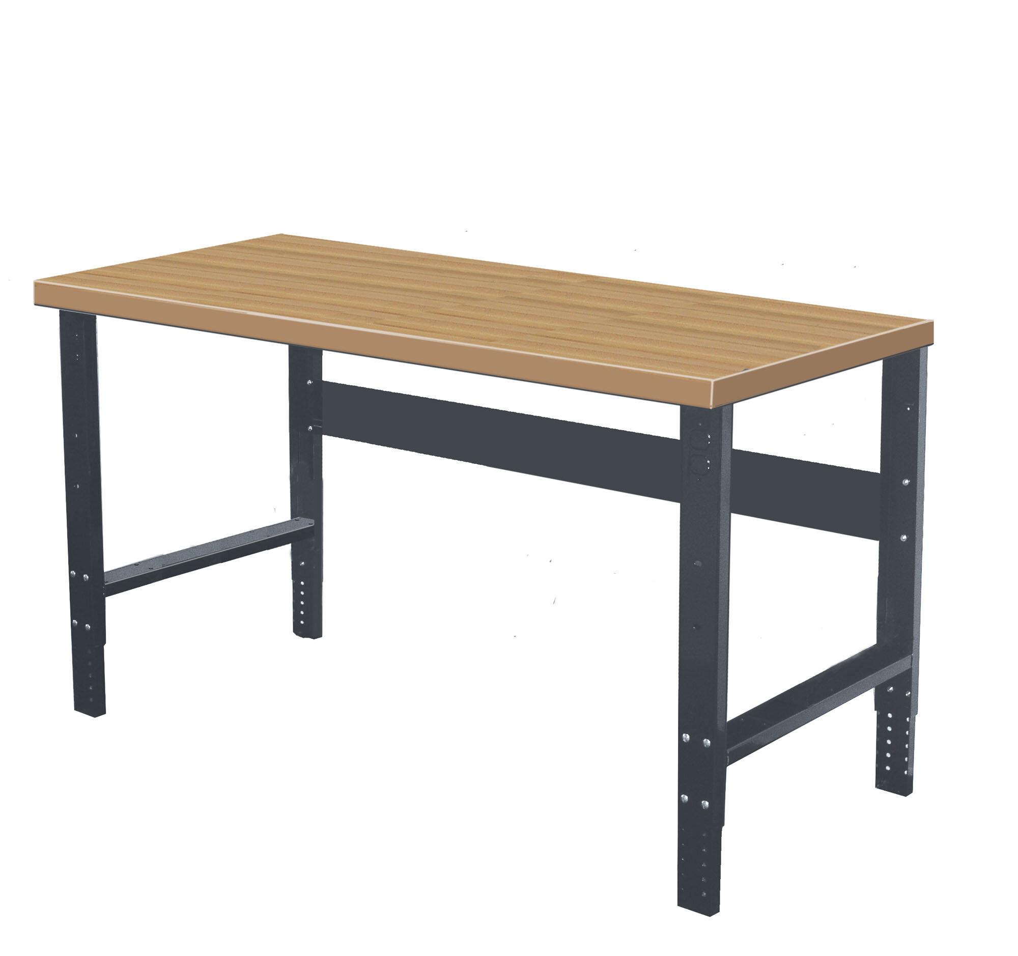 Super Shop Adjustable Height Wood Top Workbench Creativecarmelina Interior Chair Design Creativecarmelinacom