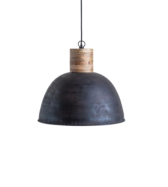 Bungalow Rose Killough 1 Light Single Dome Pendant With Wood Accents Reviews Wayfair