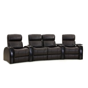 Latitude Run Contemporary Home Theater Curved Row Seating (Row of 4)