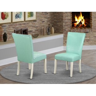 Dampier Upholstered Dining Chair Set of 2 by Charlton Home