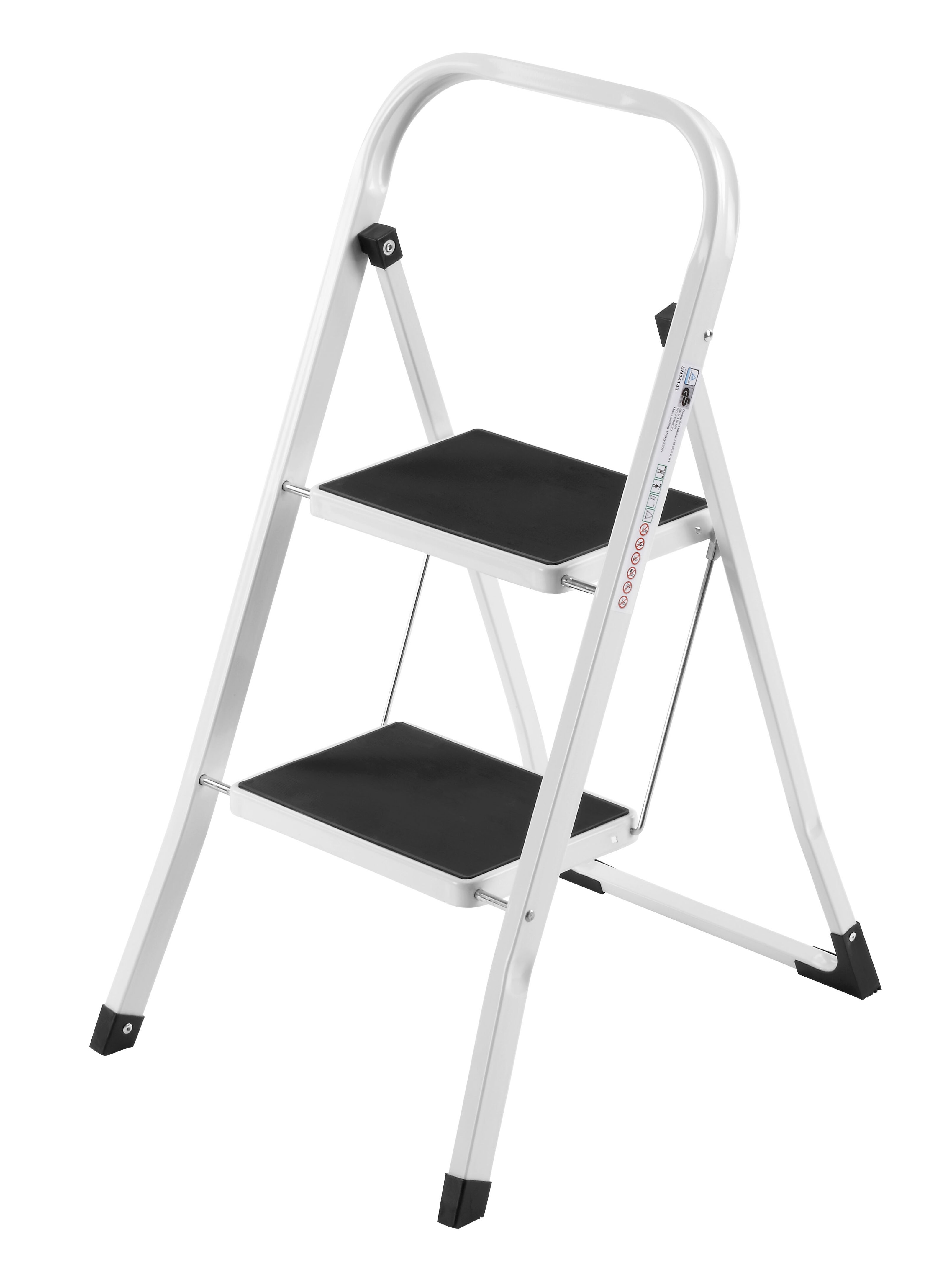 Brilliant Vonhaus 2 Step Steel Step Stool With 330 Lb Load Capacity Pabps2019 Chair Design Images Pabps2019Com