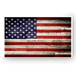 05b44a4dfe9d  American Flag I  Graphic Art Print on Wrapped Canvas