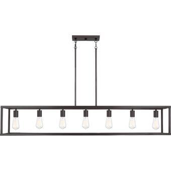 Red Barrel Studio Bilski 6 Light Kitchen Island Linear Pendant Reviews Wayfair