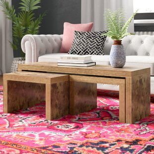 Haddad 3 Piece Coffee Table Set By World Menagerie