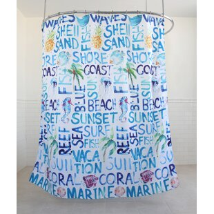Fountain Coastal Fabric Single Shower Curtain