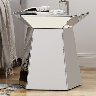 Hearne Pentagon End Table by Everly Quinn