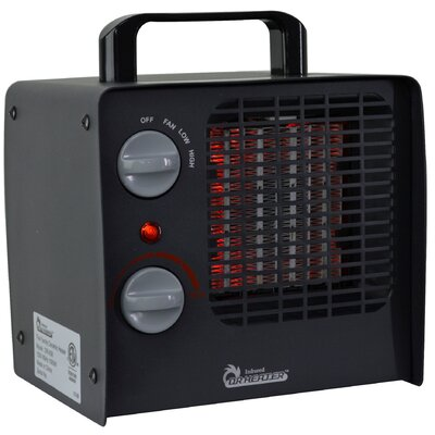 1,500 Watt Portable Electric Fan Compact Heater with Adjustable Thermostat Dr. Infrared Heater