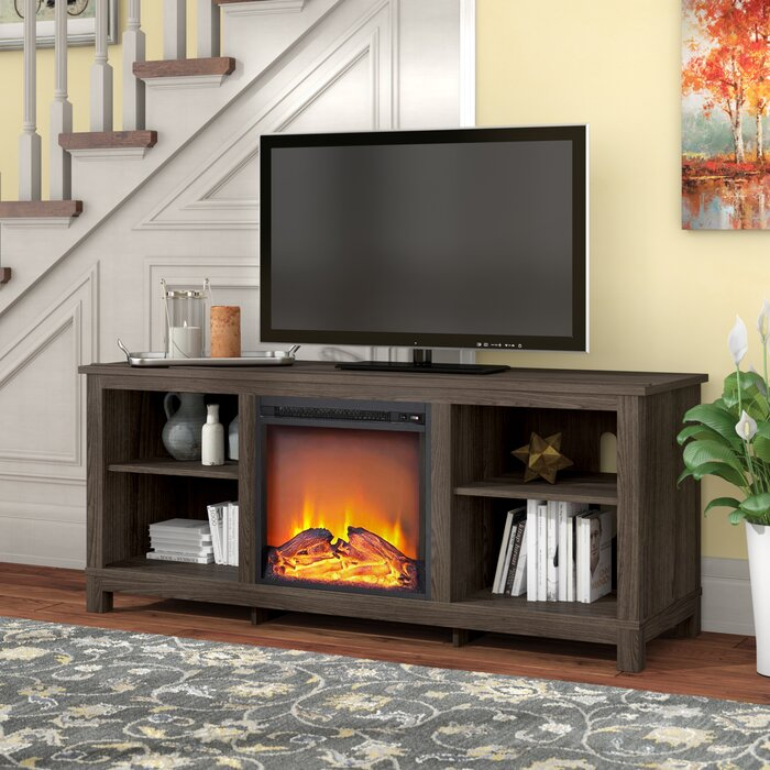 Gaither TV Stand for TVs up to 60 inches with Fireplace Included